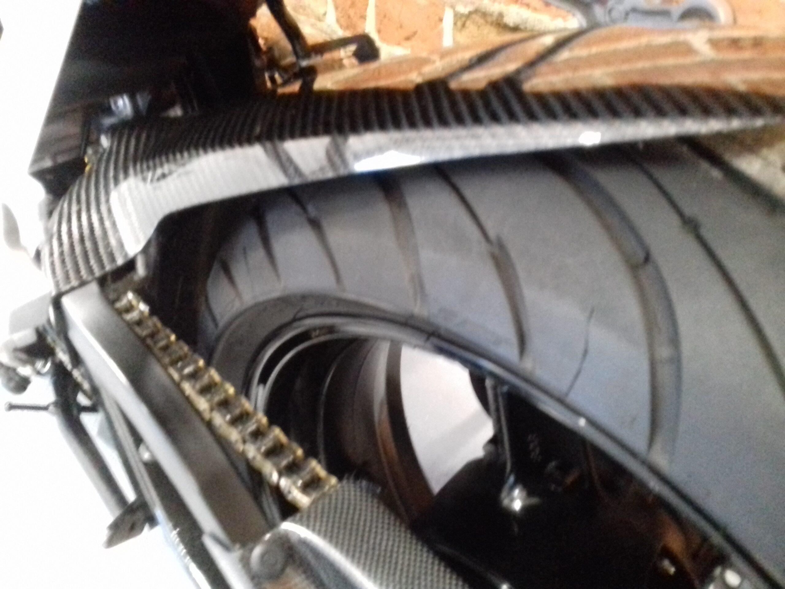 SUZUKI GSX-R 750 GSXR K5 AKRAPOVIC EXHAUST TAIL TIDY